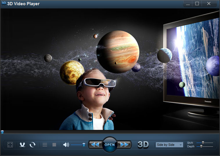 3d Media Player Watch 2d Video In 3d 3d Video Player
