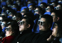 Chinese people in 3D cinema preview