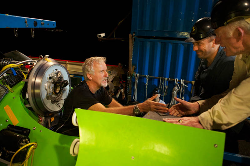 James Cameron and Deep Sea Challenge expedition crew