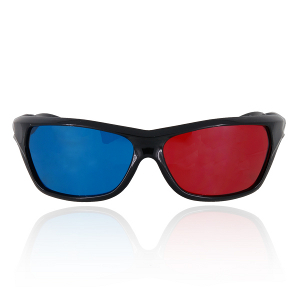 Red blue anaglyph glasses