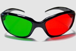 Red green anaglyph glasses