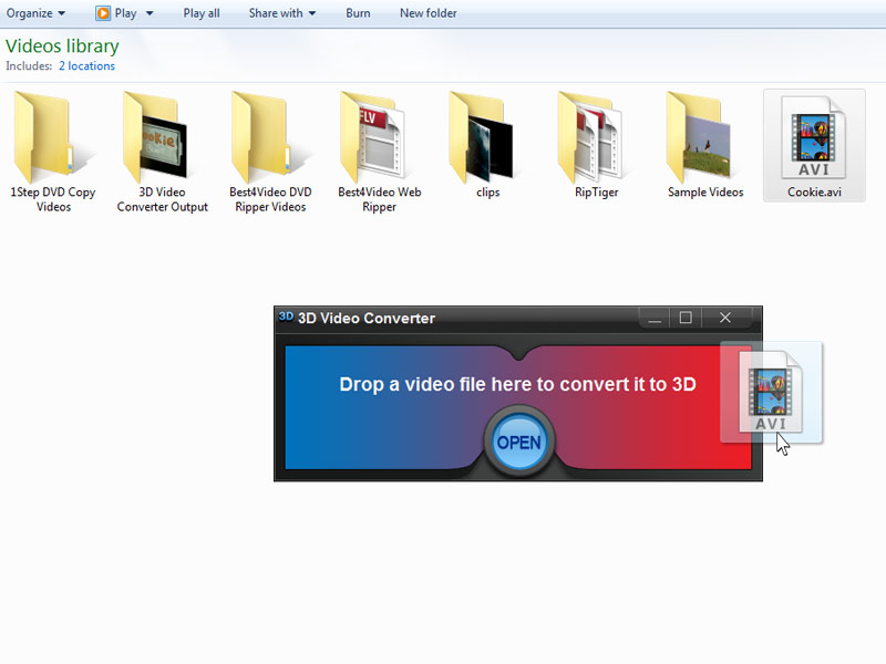 Click to view 3D Video Converter 1.1.0 screenshot